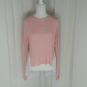*NEW ITEM!* Red and White Striped blouse
